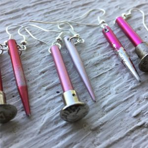 Upcycled Knitting Needles to Earrings @ McCloud Nature Park